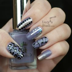 Lucy's Stash - pretty purple mani ideas plus a tutorial for the weave design