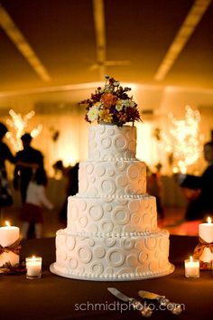 Wedding Cake - but I wouldn't do the flowers on top (I'd rather have a traditional bride and groom cake topper)