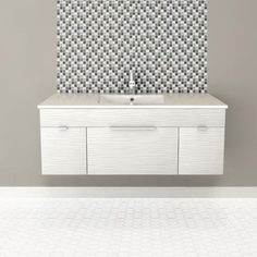 Cutler Kitchen & Bath - Textures Collection Wall Hung 48 Inch Contour White - FV CW48 - Home Depot Canada