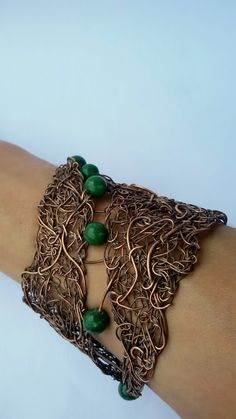Copper wire braceletFairy wire wrapped bracelet by Tangledworld