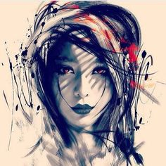 Art and Portraits Geisha Tattoos, Samurai Warrior Tattoo, Samurai Art, Tattoo Sketches, Tattoo Drawings, Body Art Tattoos, Sleeve Tattoos, Tattoo Trash, Natur Tattoos