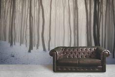 Snow Haze Forest Mural Wallpaper @ Mura Innovations Ltd. http://www.muralswallpaper.co.uk