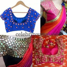Mirror Work Simple and Heavy Blouses | Saree Blouse Patterns