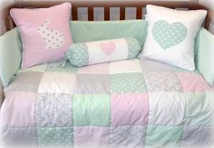 Baby Linen, Baby Decor, Baby Room, Nursery, Cot Linen - Designed and Manufactured by Tula-tu Baby Linen Elephant Nursery Girl, Girl Nursery Bedding, Nursery Room, Nursery Ideas, Project Nursery, Nursery Themes, Room Ideas, Color Menta, Baby Girl Shower Themes
