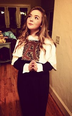 delaineyhenso13 being Hester Prynne for Halloween