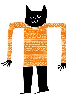 Cat In Jumper by Philip Pittam Illustration Note: one embarrassed cat