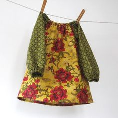 Holiday peasant dress sizes 6m 12m 18m 2T 3T 4T 5 by allthenumbers