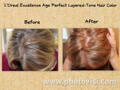 L'Oreal Excellence Age Perfect Layering-Tones Hair Color: Sponsored Review Prime Beauty Blog  #sponsored #AgePerfect