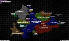 Star Trek - Milky Way, Alpha & Beta Quadrant map
