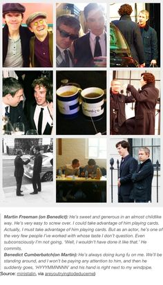 || martin freeman + benedict cumberbatch - seriously though, these two have the best friendship ||