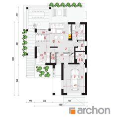Dom w jaskierkach 4 (G) Modern Bungalow House, House Plans, Pergola, Floor Plans, How To Plan, Gallery, Roof Rack, Outdoor Pergola, House Floor Plans