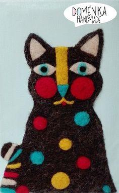 Cat in needle felting by Doménika Handmade (Eugenia Ramos Psijas)