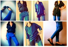 SHADES OF BLUE  I've seen this around a lot, mix and matching of the same color in different textures and shades      READ MORE: http://misslittletouch.tumblr.com/post/20899175093/mix-matching-shades-blues