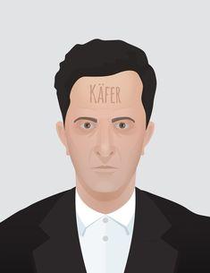 Portrait - 2x Ludwig Wittgenstein, Piotr Tarnman on ArtStation at https://www.artstation.com/artwork/Lqk9R #filozofia #filozof #philosophy #philosopher #wittgenstein #beetle #affinity #designer #tarnman