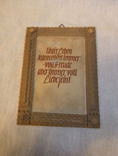 Antique German Wood Tramp Art Picture Frame #CD2