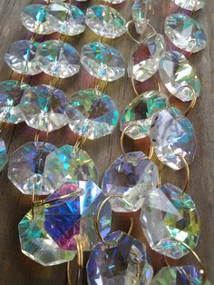 1 Yard Iridescent Rainbow Chandelier Crystal Chains Swags Crystal Prism Yards Shabby Chic Cottage Style Chandelier Ornaments Shabby Chic Garden, Shabby Chic Farmhouse, Shabby Chic Cottage, Cottage Style, Shabby Chic Pillows, Shabby Chic Frames, Simply Shabby Chic, Chandelier Crystals, Crystal Chandeliers