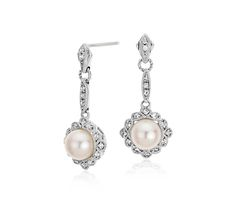 """These earrings are beautiful. Very dainty looking and vintage styling make these a lovely """"something new"""" for my grand daughters wedding.( which i will save for her) These earrings arevery feminine. I think Blue Nile should make a matching pendant."""