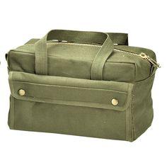 Mechanics Tool Bags Heavyweight Canvas - Military Camo Tool Bag Black, OD, ACU