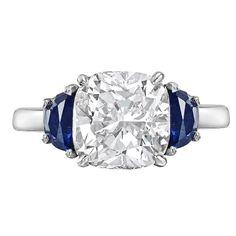 Beautiful 3.01 Carat Cushion-Cut Diamond Engagement Ring