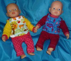 Pulli/ Pullover für die Puppe, my little Baby Born (ca 30-35cm - LiebEling: Schlupfpulli fürs Püppchen {gratis Schnittmuster}