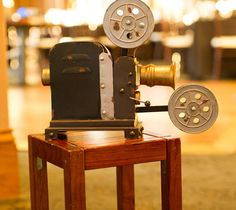Hollywood Glam Wedding: Old movie reels at Kirklands added a little something old and glamours to the decor.  $20