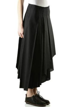 polyester and cotton poplin pleated skirt | shop > www.deuxdansumi.com