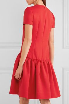 Alexander McQueen | Drop-waist wool-blend scuba dress | NET-A-PORTER.COM