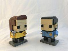 Lego Brickheadz Kirk and Spock from Star Trek