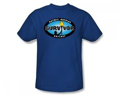 Cbs - Survivor / Survivor Blue Burst Adult T-Shirt In Royal Blue