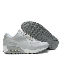 Cheap UK Nike Air Max 90 Hyperfuse Premium Light Grey Mens & Womens Trainers/Sneakers Sale Online