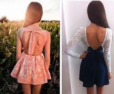 Cute Open Back Dresses..loving this trend! Please don't be a fad.