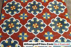 AthangudiTiles.Com - Athangudi Tiles - Tile Designs Room Wall Tiles, Indian Crafts, Tile Design, Wood Crafts, Kids Rugs, Antiques, Cement, Home Decor, Antiquities