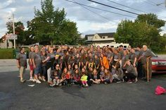 Shelby, Crystal  and Hannah of Bethel #30 @ 2014 Labor Day Bridge walk to raise $ for HIKE