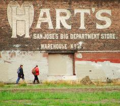 Harts sign in San Jose, an iconic image.