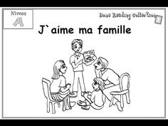 J`aime ma famille - French Immersion Home Reading Collection Printable book, level A Livre imprimable, Niveau A Purchase your printable version of this book . Learn French Beginner, French For Beginners, French Articles, French Resources, Reading At Home, Early Reading, Teaching French Immersion, French Learning Games, Grade 1 Reading