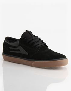 Lakai Griffin Skate Shoes - Black/Gum Suede