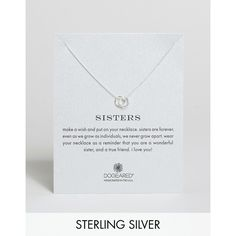 Dogeared Sterling Silver Sisters Linked Ring Reminder Necklace ($59) ❤ liked on Polyvore featuring jewelry, necklaces, silver, sterling silver necklace, handcrafted necklaces, handcrafted jewelry, sterling silver pendants and sterling silver chain necklace