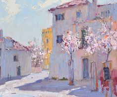 Lena Rivo's Painting Blog: Almond Trees - Sesimbra