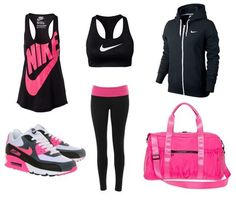 Workout Outfits For Women, Summer Workout Outfits, Fitness Outfits, Workout Attire, Workout Wear, Fitness Fashion, Summer Outfits, Nike Workout Gear, Fitness Shirts