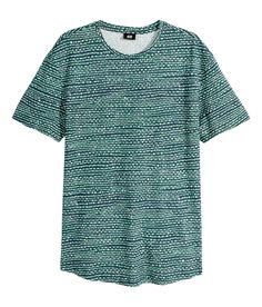 A green printed pattern puts a stylish spin on the basic tee. | H&M For Men