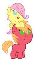Fluttershy and Big Macintosh by on DeviantArt Mlp, Fluttershy, Big Macintosh, My Little Pony Friendship, Equestria Girls, Tweety, Winnie The Pooh, Smurfs, Disney Characters