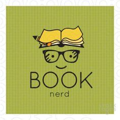 Simplistic representation of a nerd. The nerd's hair is designed to resemble an open reading book. Reading Quotes, Book Quotes, I Love Books, Books To Read, Big Books, Children's Books, Book Of Life, The Book, I Love Reading