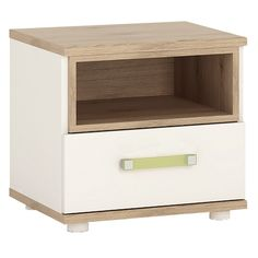 stunning white lacquer nightstand furniture. Brilliant Lacquer 4KIDS 1 Drawer Bedside Cabinet In Light Oak And White High Gloss With Lilac  Handles Is To Stunning White Lacquer Nightstand Furniture