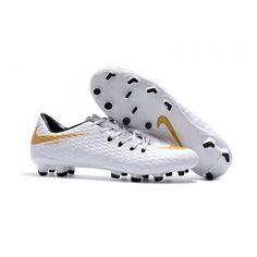 2017 Nike HypervenomX Phelon III FG Botas De Futbol Blanco dorado Sala