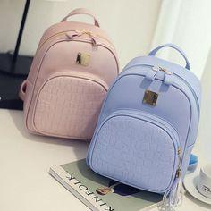 Wanita ransel Mode PU Kulit tas bahu pola buaya kecil ransel tas sekolah Mochila travel rucksack XD3737