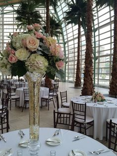Furst Florist Centerpiece in blush and cream at the Schuster Center