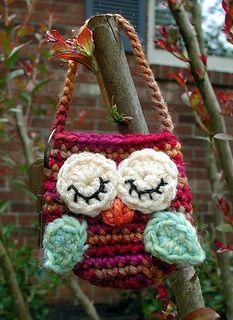 Little Owlie Key Pouches - Free Crochet Pattern