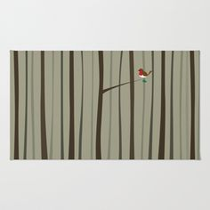 Winter Forest Area & Throw Rug by Nameless Shame - $28.00