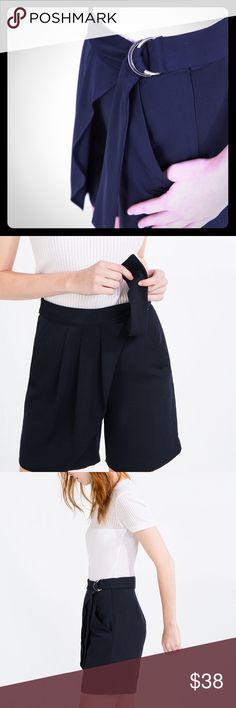 Zara Bermuda short Navy blue Zara Shorts Bermudas