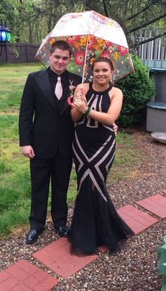 FAN PHOTO!  The rain couldn't stop our Terani Couture fan from looking fabulous for her prom in style P3115!!  [Photo Credit: madiibee | Tumblr]